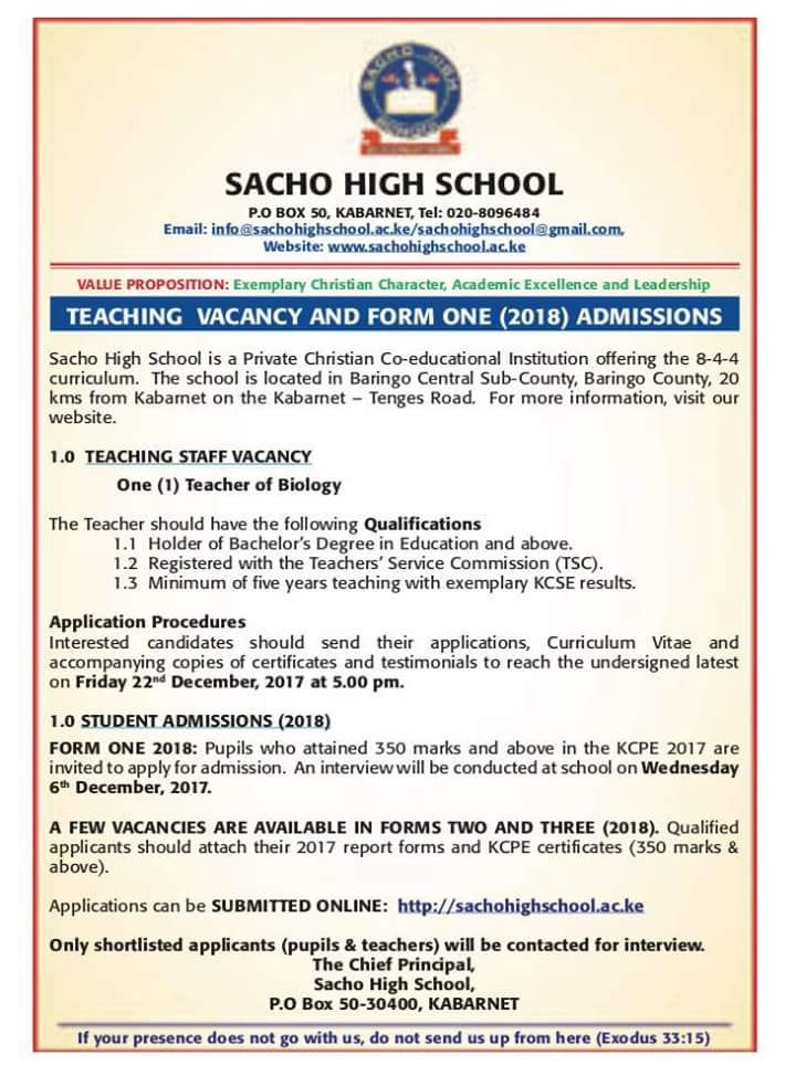 Teaching Vacancies, Over 300 Posts Open - Opportunities For Young