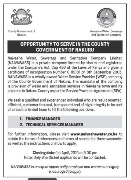 Nakuru County Government Jobs - Opportunities For Young Kenyans