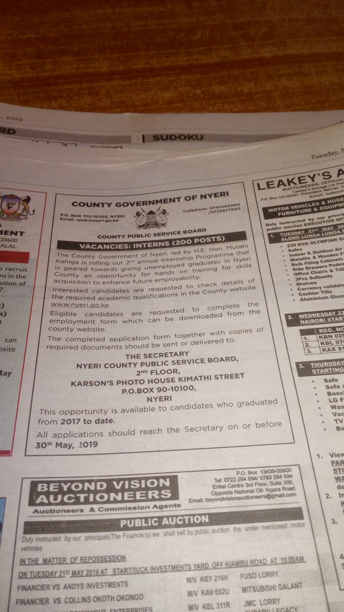 driver jobs in nyeri county
