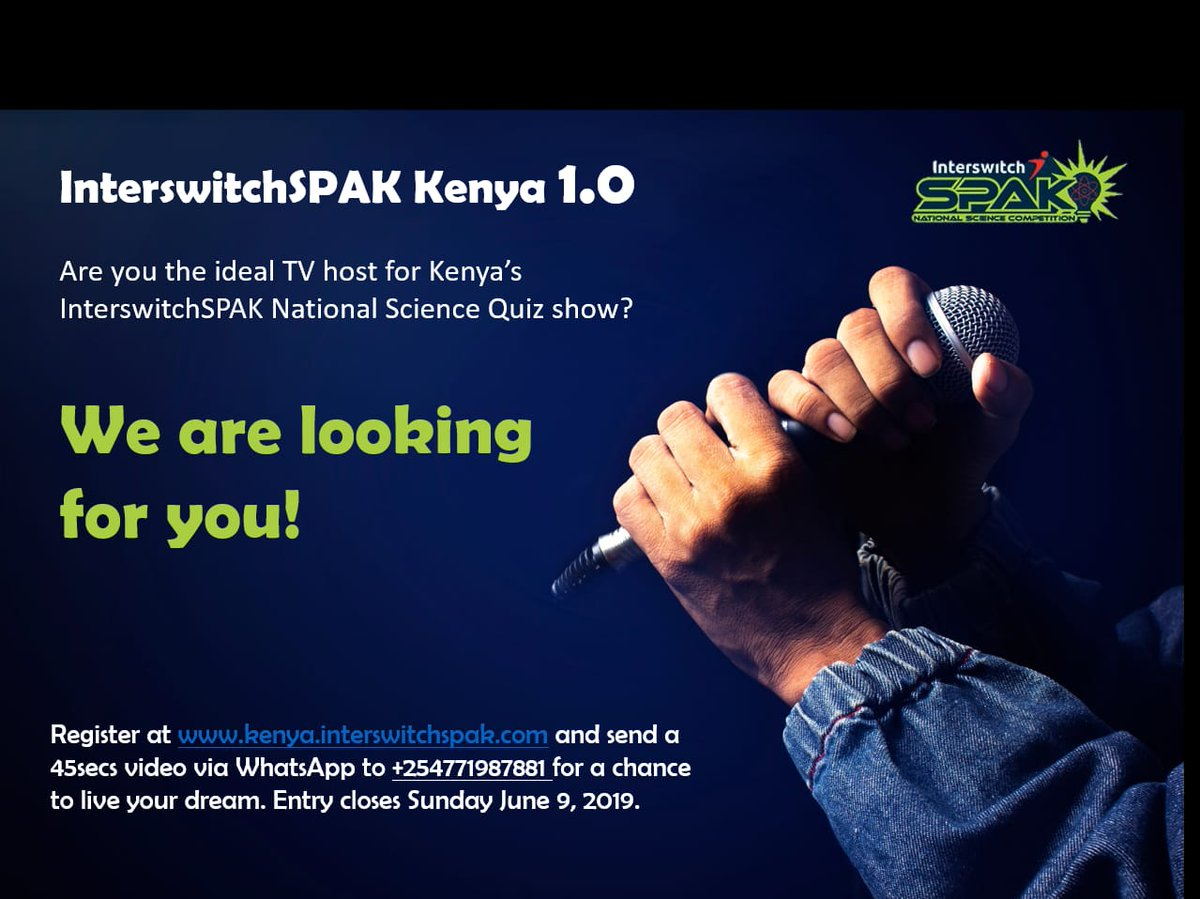 TV Host Contest - Opportunities For Young Kenyans