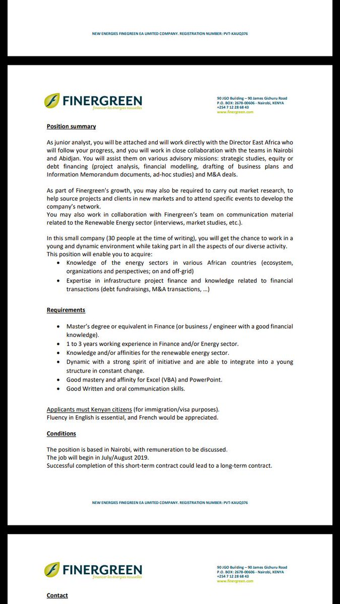 Junior Analyst Wanted - Opportunities For Young Kenyans