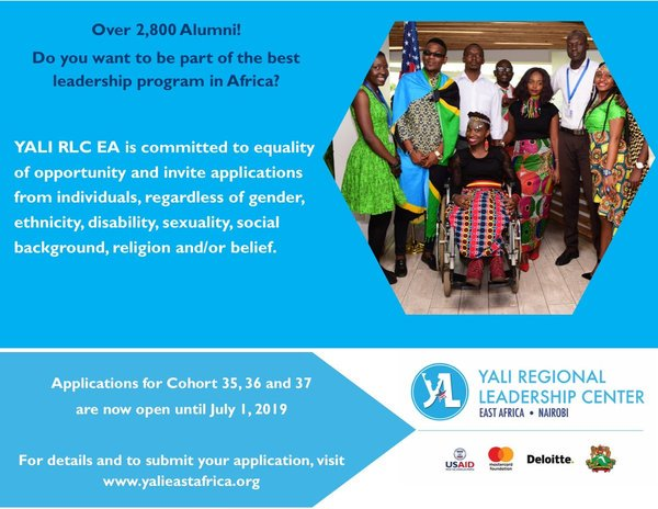 YALI Regional Leadership Center Fellowship Program 2019 for East