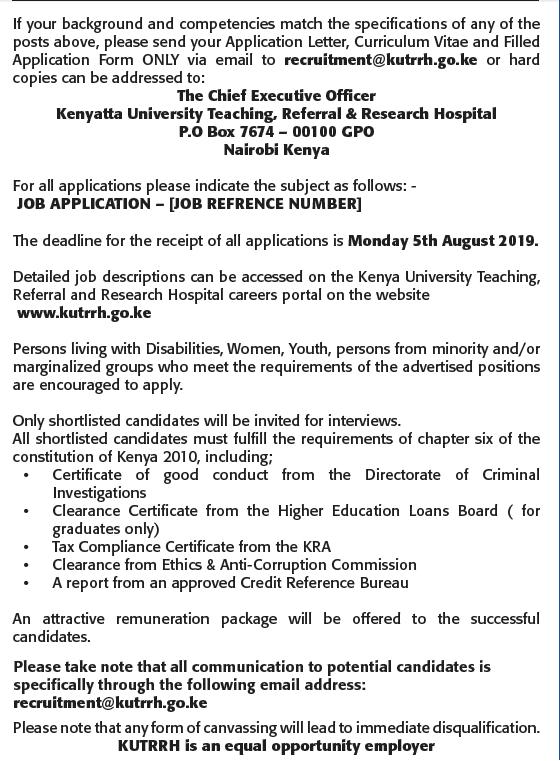 Kenyatta University Hospital Massively Hiring In 490