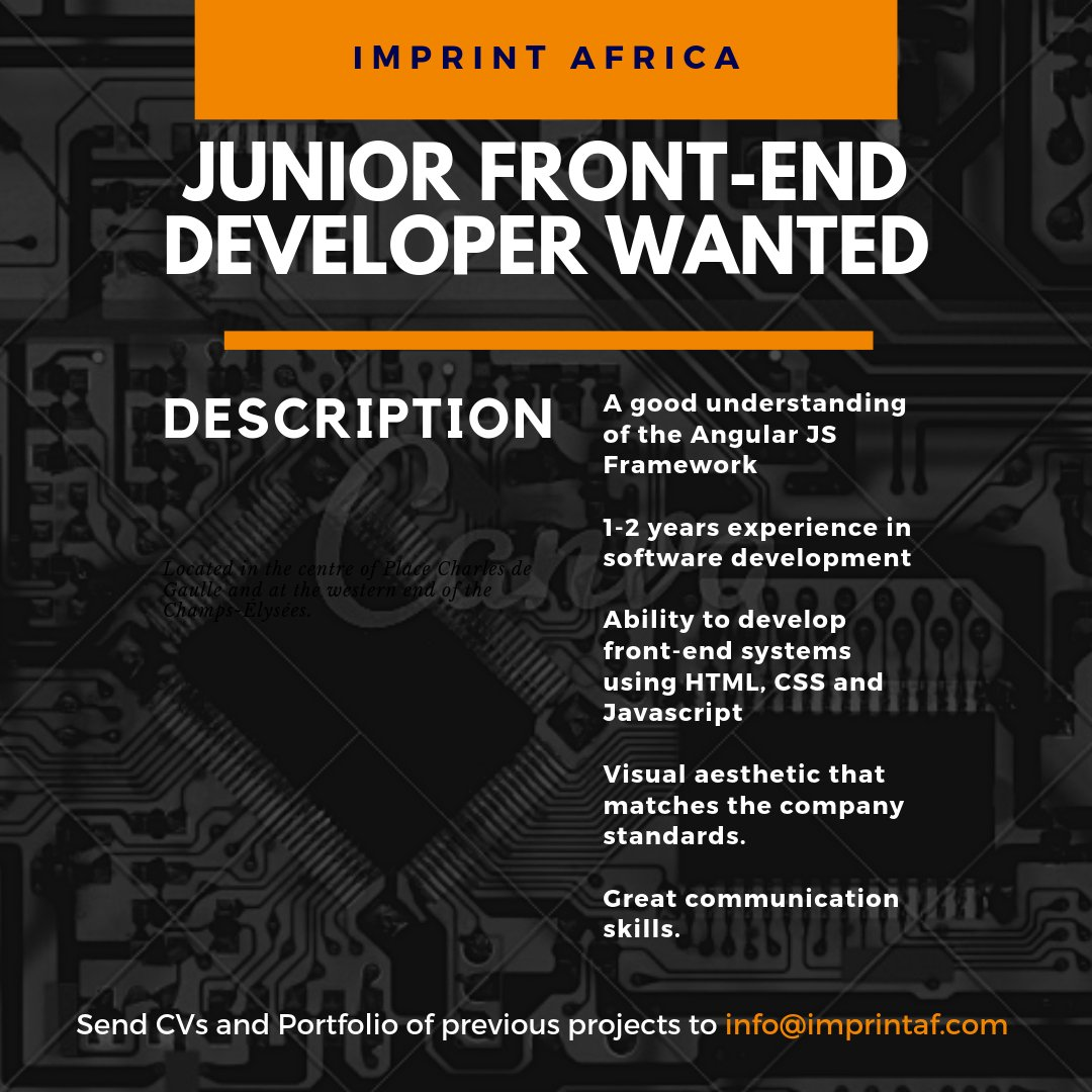 Junior Front-end Developer Wanted - Opportunities For Young