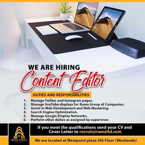 Rama Homes Hiring a Content Editor. - Opportunities For ...
